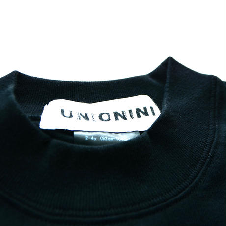 "【 UNIONINI 20AW 】PO-021 side slit big tee "" カットソー ""  / black"