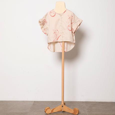 "【 folk made 21SS 】face print blouse "" ブラウス "" / beige print / S-L"