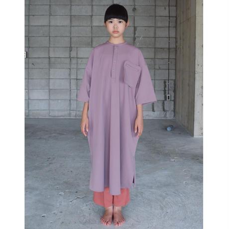 【 SWOON 21SS 】フロートポケットシャツワンピース [02-sw15-406-021] / Purple