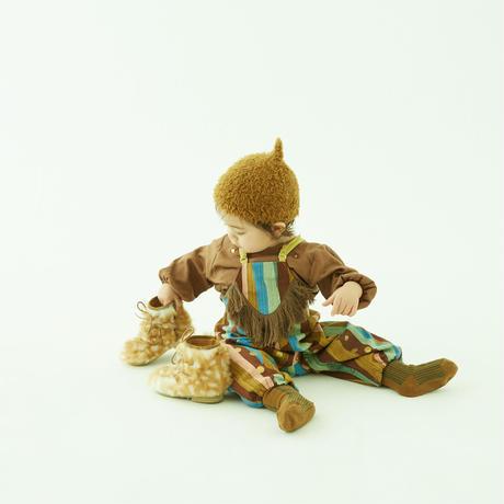 """【 eLfinFolk 21AW 】 C/L washer baby blouse(elf-212F39) """"ブラウス"""" / brown / 90-100cm"""