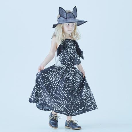 "【 eLfinFolk 21SS 】QiLin pinafore dress(elf-211F09)""ワンピース"" / black / 110-130"