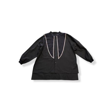 【 nunuforme 21AW 】セーラーブラウス / 05-nf16-574-012 / Charcoal