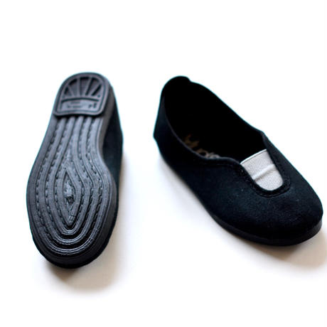 【 La Cadena 2019SS 】 GIMNASIA - Panel Slip On / BLACK x LIGHT GREY / 19〜21cm