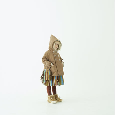 "【 eLfinFolk 21AW 】 Abies socks(elf-212A59) ""ソックス""  / camel / 23 - 25cm"
