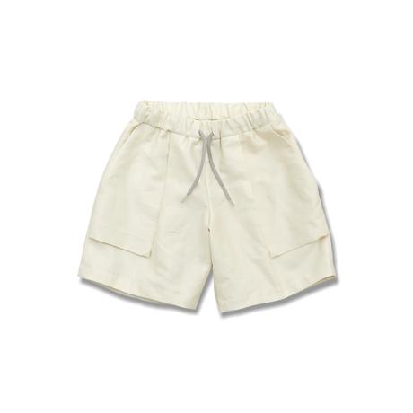 "【 MOUN TEN. 21SS 】C/L moleskin fatigue shorts [21S-MP51-0921b] ""パンツ"" / ecru /  0(150-160)"