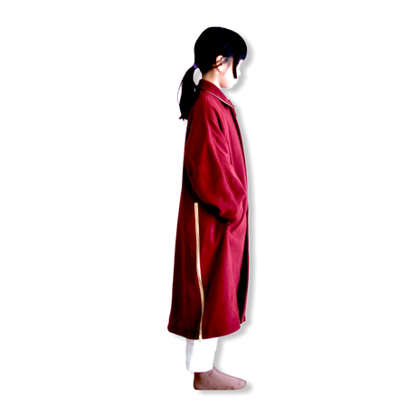 "【 GRIS 20AW】GR20AW-CO001B  Stainless Collar Coat ""コート"" / Rose / M-L"