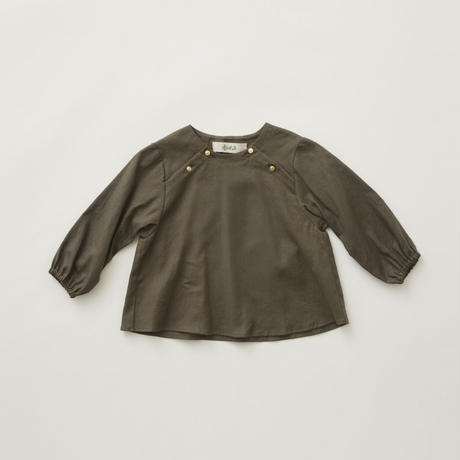 "【 eLfinFolk 21AW 】 C/L washer baby blouse(elf-212F39) ""ブラウス"" /  grayish khaki / 90-100cm"