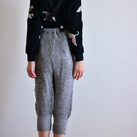 "【 folk made 2020AW 】rib stitch suspenders pants [F20AW-023] "" パンツ "" / charcoal gray / LL(140-155)"