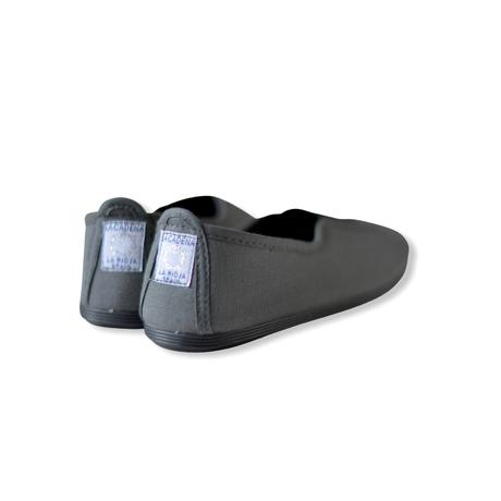 【 La Cadena 】 GIMNASIA   PANEL COLOR SLIP ON / DK GREY ×  BLACK / 15〜16.5cm