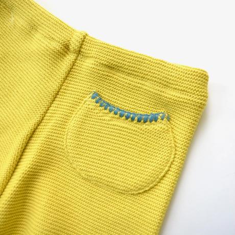 """【 ミナペルホネン 20AW 】YA8103P  makea """" パンツ""""  / yellow / 80-90cm"""