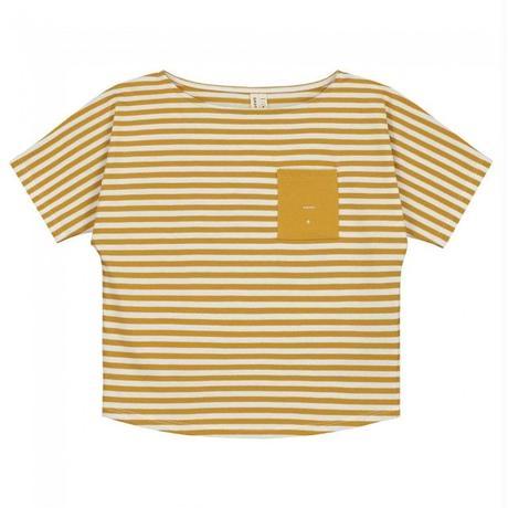 "【 GRAY LABEL 2020SS】Pocket Tee  ""ワイドTシャツ"" / Mustard/Off White Stripe / 80-90cm"