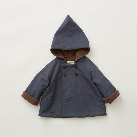 "【 eLfinFolk 21AW 】 elf coat(elf-212F43) ""コート""  / blue gray / 90-100cm"