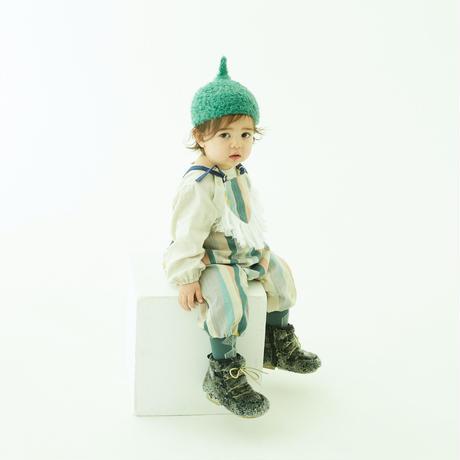 """【 eLfinFolk 21AW 】 pygmy cap (elf-555A01) """"帽子"""" / sage green / S,M"""
