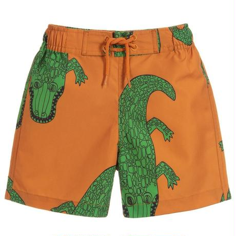 【 mini rodini 2019SS 】80115  Crocco swimshorts / Brown