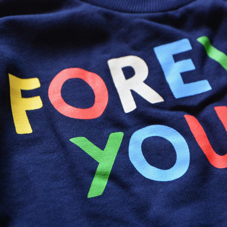 【 mini rodini 2019AW 】19720157  Forever young sp sweatshirt / Navy