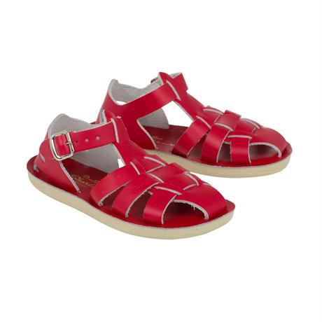 """【 Saltwater Sandals 】 海でも履けるソルトウォーターサンダル  """"Shark""""  / レッド / 13 - 16cm"""