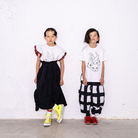 "【 franky grow 21SS 】ORIG. CHECK BIG PANTS [21SBT-235] "" パンツ "" / WHITE-BLACK / レディース"