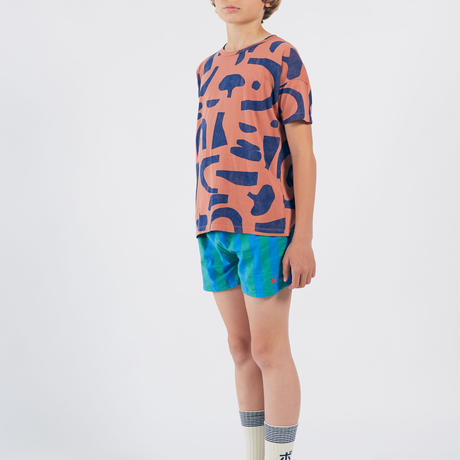 【 Bobo Choses 2020SS 】12001073	Striped Woven Shorts