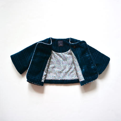 """【 ミナペルホネン 19AW 】XA6061P block    """"コート"""" / blue / 80-90cm"""