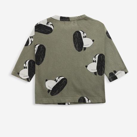 "【 BOBO CHOSES 21AW 】Doggie All Over long sleeve T-shirt(221AB029) ""ロンT"""