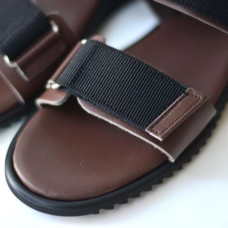 "【 NINOS 】WP Sandal(NTC021 ) "" 海水OK!レザーサンダル "" / Brown / 17 - 21cm"