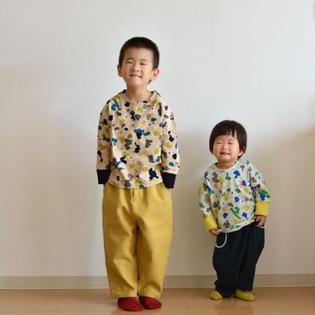 """【 ミナペルホネン 21AW 】ZA8157P smile drop """"ロンT"""" / dark mix  / 110-140cm"""