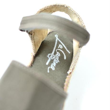 """【 La Cadena 20SS 】 VALENCIANA  HEEL SANDALS ESPADRILLES """"サンダル"""" / OLIVE x ESPADRILLES / 16.5〜20cm"""