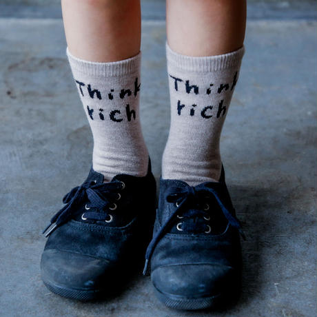 "【 michirico 21SS 】hink socks (MR21SS-24)"" ソックス "" / ベージュ"