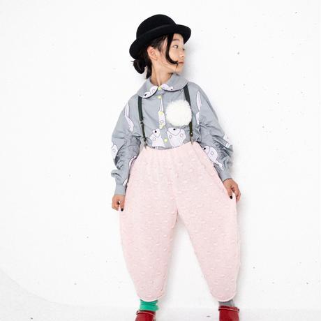 【 franky grow 2019AW 】19FWKTBT-110 POPCORN KNIT BIG PANTS / PINK  / レディース