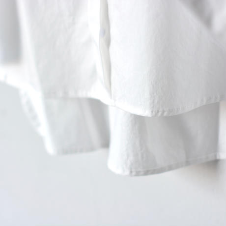 【 MOUN TEN. 2020SS 】80/1 washer big shirts [MT201004-b]  / white  / 150-160