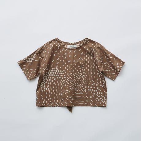 """【 eLfinFolk 21SS 】QiLin T shirts(elf-211F04)""""Tシャツ"""" / brown / 90-130"""