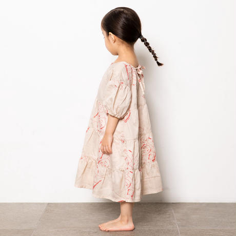 "【 folk made 21SS 】face print dress "" ワンピース "" / beige print / F(レディースサイズ)"