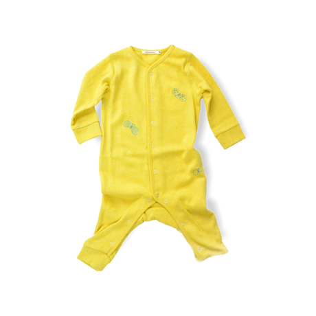"""【 ミナペルホネン 21SS 】ZS8134P choucho """" ロンパース""""  / yellow / 70cm"""