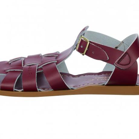 """【 Saltwater Sandals 】 海でも履けるソルトウォーターサンダル  """"Shark Original""""  / クラレット / 23.5 - 25cm"""