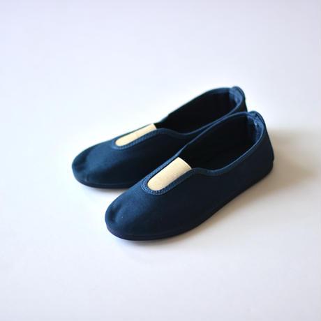 """【 La Cadena 21AW 】 GIMNASIA """"スリッポン"""" / BLUE NAVY x BEIGE / 17〜21cm"""