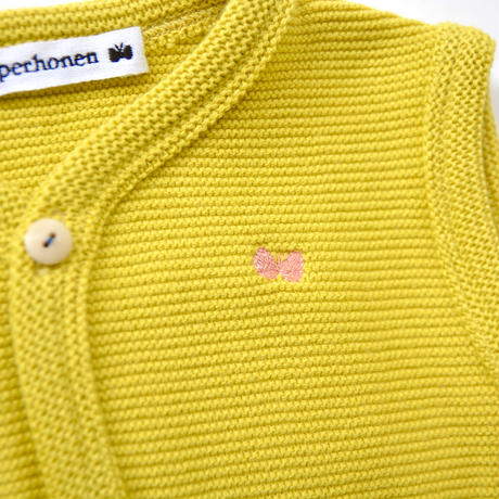 """【 ミナペルホネン 20AW 】YA8104P  makea """" ベスト""""  / yellow / 80cm"""