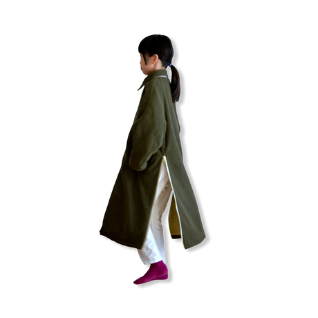 "【 GRIS 20AW】GR20AW-CO001B  Stainless Collar Coat ""コート"" / Moss / M-L"