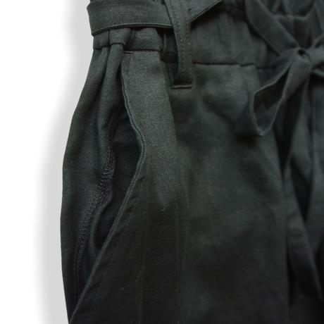 "【 UNIONINI 21SS 】PT-065 linen big pants  "" パンツ ""  / black / 大人サイズ"