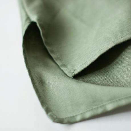 """【 MOUN TEN. 21SS 】C/L moleskin shirts [21S-MS19-0920b] """"ノーカラーシャツ"""" / khaki / 0(150-160)"""