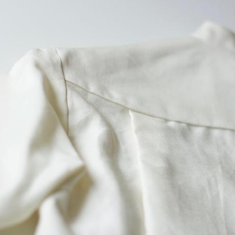 """【 MOUN TEN. 21SS 】C/L moleskin shirts [21S-MS19-0920a] """"ノーカラーシャツ"""" / ecru / 95-140"""
