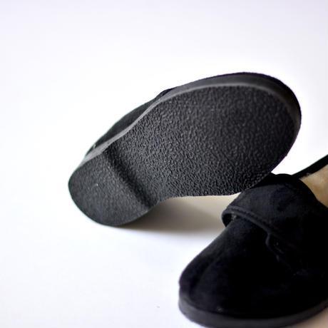 "【 La Cadena 21AW 】 BLUCHER VELCRO ""ローカットスニーカー"" / BLACK x BLACK SOLE / 14〜21cm"