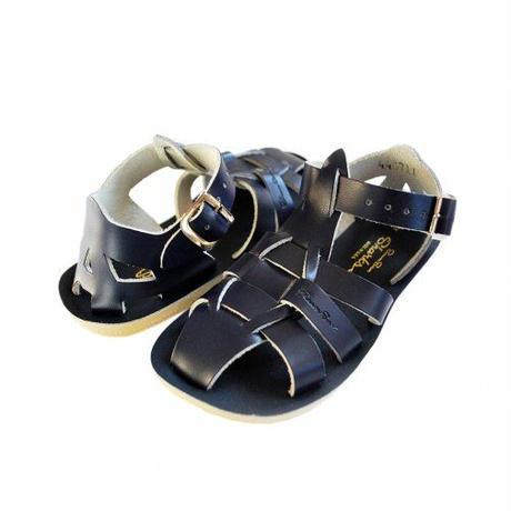 """【 Saltwater Sandals 】 海でも履けるソルトウォーターサンダル  """"Shark""""  / ネイビー / 13 - 16cm"""