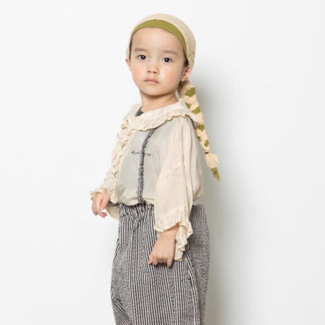 "【 folk made 21SS 】taffeta blouse "" カラーブラウス "" / beige / LL(140-155)"