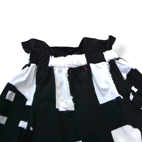 "【 franky grow 21SS 】ORIG. CHECK MIX SKIRT [21SBT-237] "" スカート "" / WHITE-BLACK / レディース"