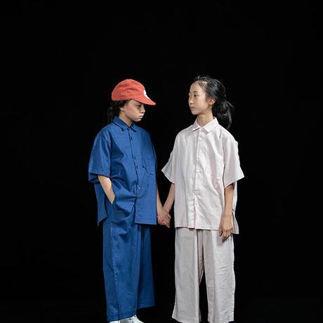 "【 UNIONINI 21SS 】PT-065 linen big pants  "" パンツ ""  / pink / 大人サイズ"