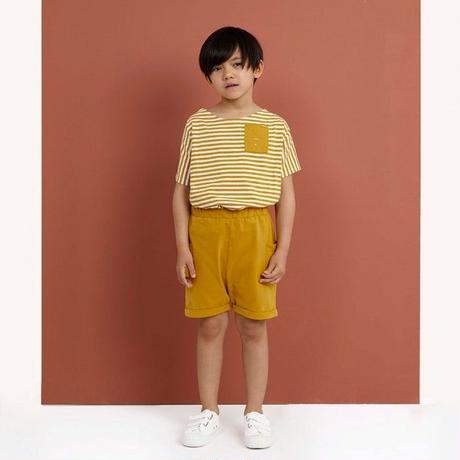 "【 GRAY LABEL 2020SS】Relaxed Pocket Shorts  ""ショートパンツ"" / Mustard / 90-140cm"
