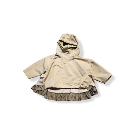 【 nunuforme 21AW 】フリルミックスパーカー / 69-nf16-560-139 / Beige