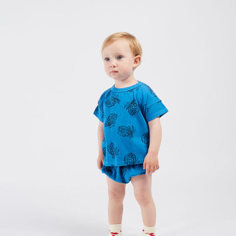 【 Bobo Choses 2020SS 】12000005	All Over Pineapple T-Shirt