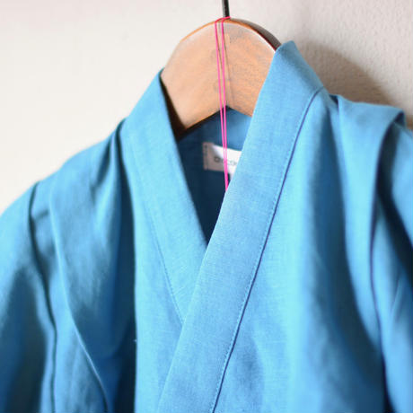 "【 Chocolatesoup 20SS 】LINEN JINBEI SEPARATE "" リネンの甚平 ""  / BLUE"
