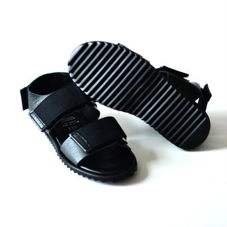 "【 NINOS 】WP Sandal(NTC021 ) "" 海水OK!レザーサンダル "" / Black / 17 - 21cm"